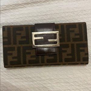 FENDI FF Zucca Long Wallet